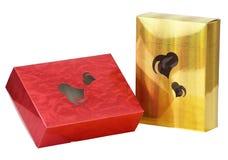 askar mönstrde presenten Fotografering för Bildbyråer