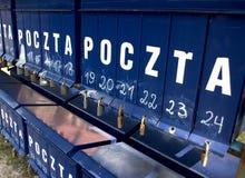 askar postar padlocked Fotografering för Bildbyråer