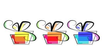 askberömgåva vektor illustrationer