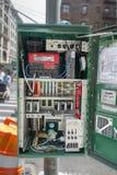 Asken för kontrollanten för asken för gataljus öppnade den elektriska med all hårt royaltyfria foton