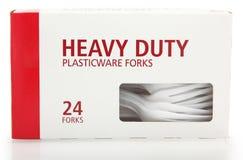 asken forks plast- Royaltyfria Bilder