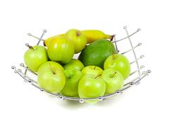Asket of fruits Royalty Free Stock Photography