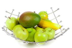 Asket of fruits stock photos