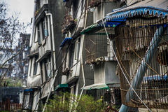 Askew buildings after earthquake in China Royalty Free Stock Photo