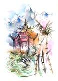 askfat royaltyfri illustrationer