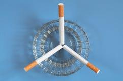 Askfat med cigaretter arkivbild
