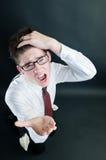 asking businessman money screaming Στοκ Εικόνες