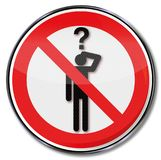 Asking is forbidden. And no informations Royalty Free Stock Photos