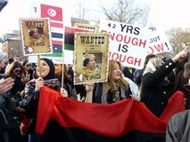 Asking Kadafi to Leave Stock Image