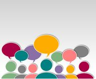 Asking people abstract graphic Design. Colorful graphic illustration over white Stock Image