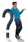 Asking a question Royalty Free Stock Image