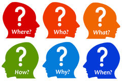 Asking questions. Having doubts and asking yourself lots of questions Royalty Free Stock Photos
