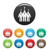Asking teamwork icons set color vector. Asking teamwork icon. Simple illustration of asking teamwork vector icons set color isolated on white Stock Image
