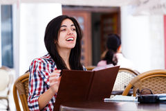 Asking for waitress Stock Images