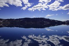 The lake Oskjuvatn in the highlands of Iceland. royalty free stock photos