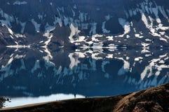 Askja (Meer Öskjuvatn), IJsland royalty-vrije stock afbeeldingen