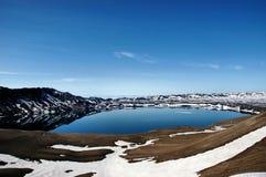 Askja (Meer Öskjuvatn), IJsland Royalty-vrije Stock Foto's