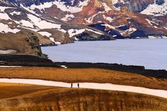 Askja vulkan - Viti krater royaltyfria bilder