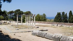 Asklepion ancient town. The cradle of medicine. Greece. Kos town. Royalty Free Stock Photo