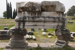 Asklepion i Pergamon (Pergamum), Bergama, Turkiet Royaltyfri Fotografi