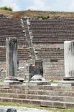 asklepion pergamum期间手段罗马圣所某事温泉剧院查看是 Pergamum 免版税库存图片