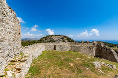 Asklepios castle, Rhodes island, Greece. View of Asklepios castle on a beautiful day, Rhodes island, Greece Stock Photography