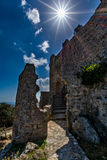 Asklepios castle, Rhodes island, Greece. View of Asklepios castle on a beautiful day, Rhodes island, Greece Stock Images