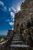 Asklepios castle, Rhodes island, Greece. View of Asklepios castle on a beautiful day, Rhodes island, Greece Royalty Free Stock Image