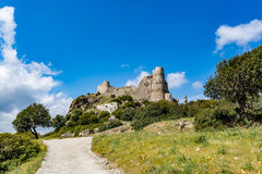 Asklepios castle, Rhodes island, Greece. View of Asklepios castle on a beautiful day, Rhodes island, Greece Royalty Free Stock Photography
