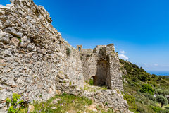 Asklepios castle, Rhodes island, Greece. View of Asklepios castle on a beautiful day, Rhodes island, Greece Royalty Free Stock Photo