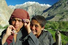 Askole kids. Portrait of two askoli boys, who live in the heart of karakoram himalaya Stock Photo