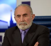 Aslambek Aslakhanov - русский политик, член совета федерации Заместитель председателя комитета Совета Федерации дальше Стоковое Изображение
