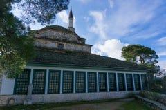 Aslan Pasha Mosque in de vesting van Ioannina in Griekenland Royalty-vrije Stock Afbeeldingen