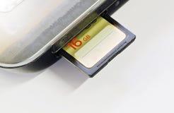 aslant задняя photoed память конца карточки помещенной вверх по была Стоковые Изображения