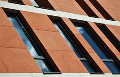 Aslant. A fragment of one of the buildings in Gdansk, Poland stock photography