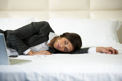 Asleep Businesswoman Royalty Free Stock Photo