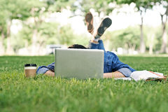 Asleep on campus Royalty Free Stock Photos