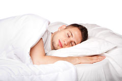 Asleep and dreaming man Royalty Free Stock Photos