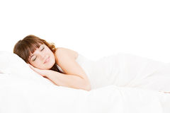 Asleep lovely woman Stock Photography