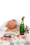 Asleep man royalty free stock image