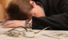 Asleep on paper Stock Image