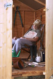 Asleep in shed Stock Photos