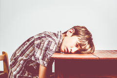 Asleep student Stock Images