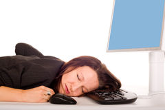 Asleep on technology Royalty Free Stock Images
