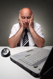 Asleep at work Royalty Free Stock Photography
