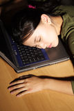 Asleep at work Royalty Free Stock Image