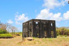 Aslito机场,塞班岛,北马里亚纳群岛废墟  免版税库存照片
