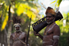 Asmat with drum Stock Image