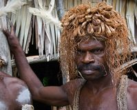The Asmat Headhunter Royalty Free Stock Images