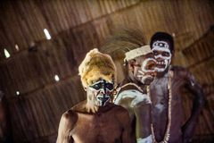 The Asmat Papua Welcoming ceremony. Stock Image